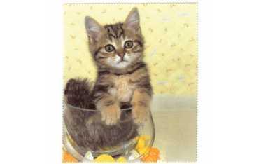 Ściereczka mikrofazowa - kociak w akwarium