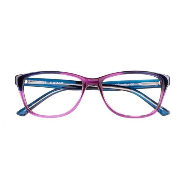 oprawki okulary korekcyjne Celine Dekoptica fioletowe z granatowymi zausznikami