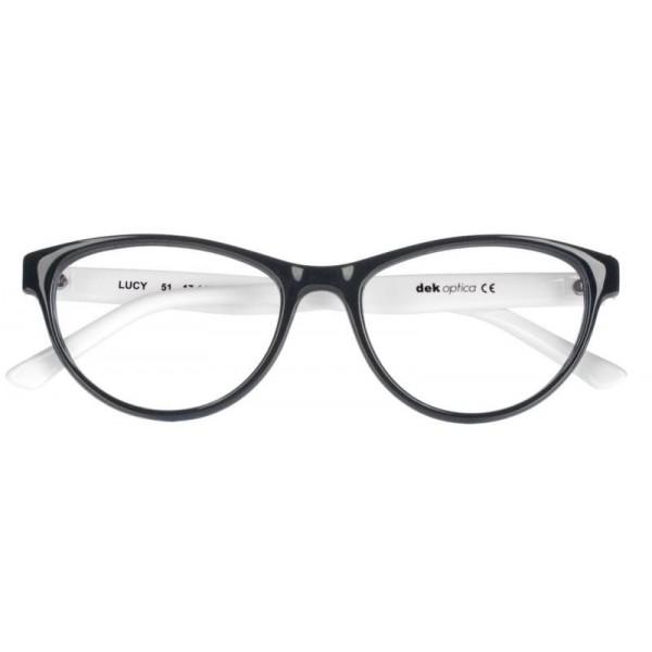 oprawki okulary korekcyjne dekoptica Lucy czarno-białe