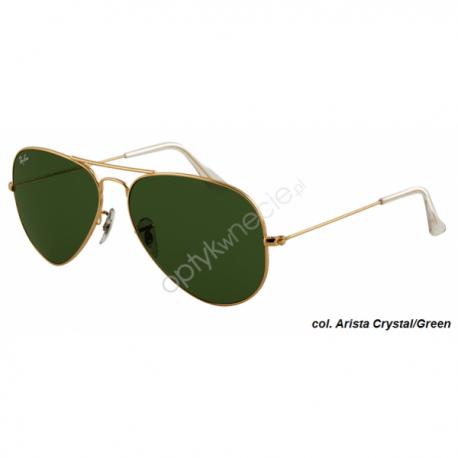 Ray-Ban Aviator rb 3025 col. 001 rozm. 62/14 - okulary przeciwsłoneczne Arista Crystal