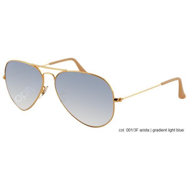 Ray-Ban Aviator rb 3025 col. 001/3F rozm. 58/14 - okulary przeciwsłoneczne