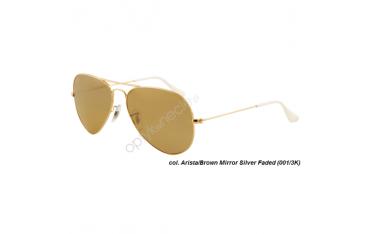 Ray-Ban Aviator rb3025 col. 001/3K rozm. 55/14 - okulary przeciwsłoneczne Mirror Silver Faded