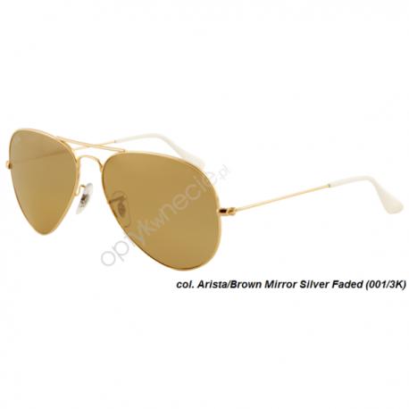 Ray-Ban Aviator rb 3025 col. 001/3K rozm. 62/14 - okulary przeciwsłoneczne Mirror Silver Faded