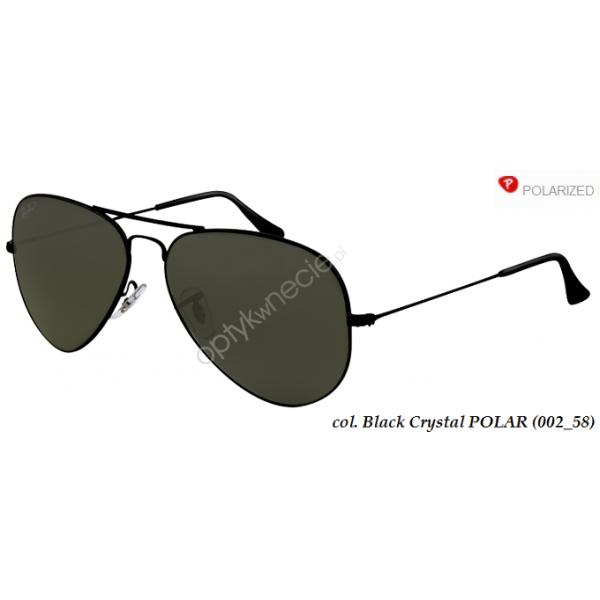 Ray-Ban Aviator rb 3025 col. 002/58 rozm. 55/14 - okulary przeciwsłoneczne z POLARYZACJĄ