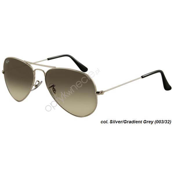 Ray-Ban Aviator rb 3025 col. 003/32 rozm. 55/14 - okulary przeciwsłoneczne