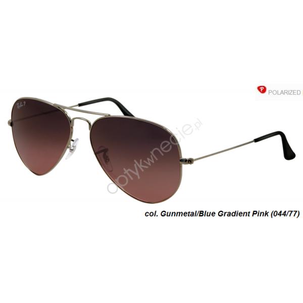 Ray-Ban Aviator rb 3025 col. 004/77 rozm. 58/14 - okulary przeciwsłoneczne z POLARYZACJĄ