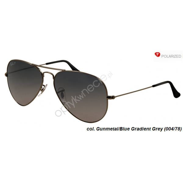 Ray-Ban Aviator rb 3025  col. 004/78 rozm. 55/14 - okulary przeciwsłoneczne z POLARYZACJĄ
