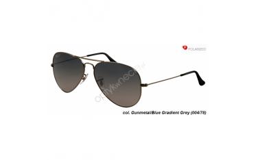 Ray-Ban Aviator rb 3025  col. 004/78 rozm. 62/14 - okulary przeciwsłoneczne z POLARYZACJĄ