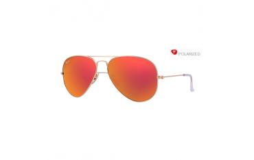 Ray-Ban Aviator rb 3025 col. 112/4D rozm. 58/14 - okulary przeciwsłoneczne z polaryzacją + lustrzanki