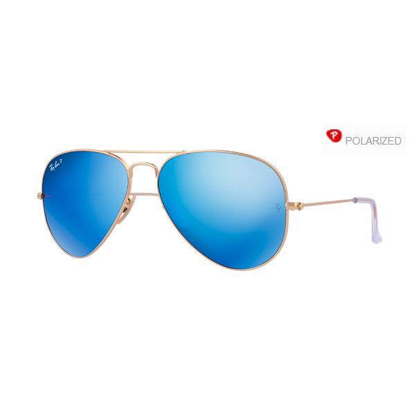 Ray-Ban Aviator rb 3025 col. 112/4L rozm. 58/14 - okulary z polaryzacją + lustrzanki