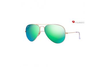 Ray Ban Aviator rb 3025 col. 112/P9 rozm. 58/14 - okulary przeciwsłoneczne z polaryzacją + lustrzanki