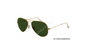 Ray-Ban Aviator rb 3025 col. w3234 rozm. 55/14 - okulary przeciwsłoneczne Arista Crystal