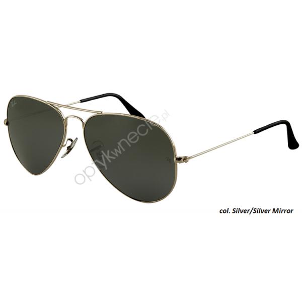 Ray-Ban Aviator rb 3025 col. W3275 rozm. 55/14 - okulary przeciwsłoneczne Silver Mirror