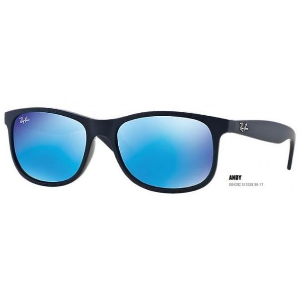 Ray-Ban Andy RB 4202  col. 6153/55 rozm. 55/17 - okulary przeciwsłoneczne Blue Mirror