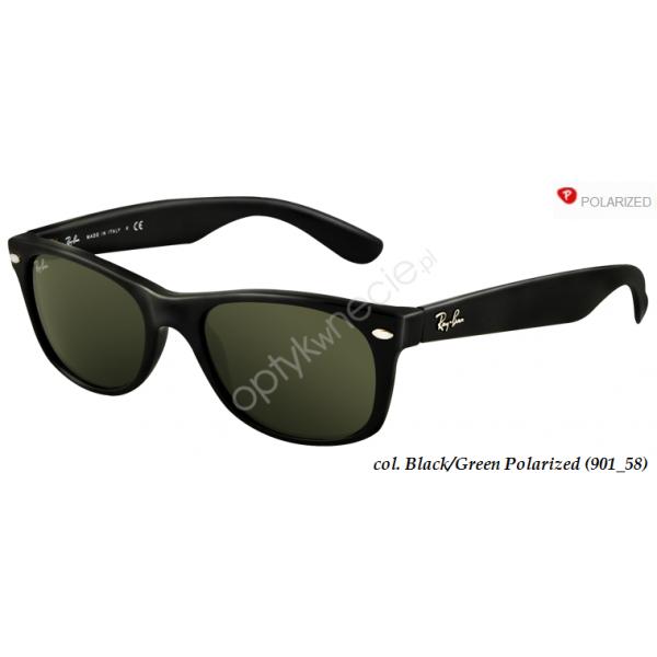 New Wayfarer rb 2132 col. 901/58 rozm. 55/18 - okulary przeciwsłoneczne z POLARYZACJĄ