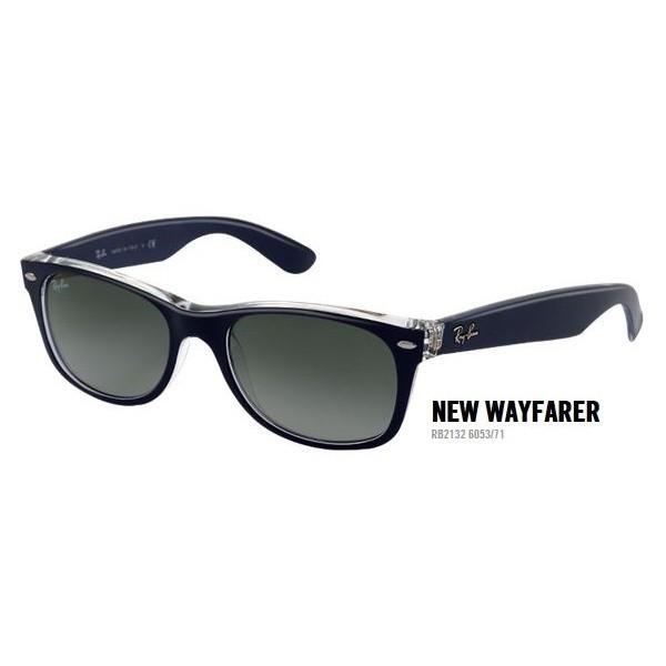 New Wayfarer rb 2132 kol. 6053/71 rozm. 55/18 - okulary przeciwsłoneczne