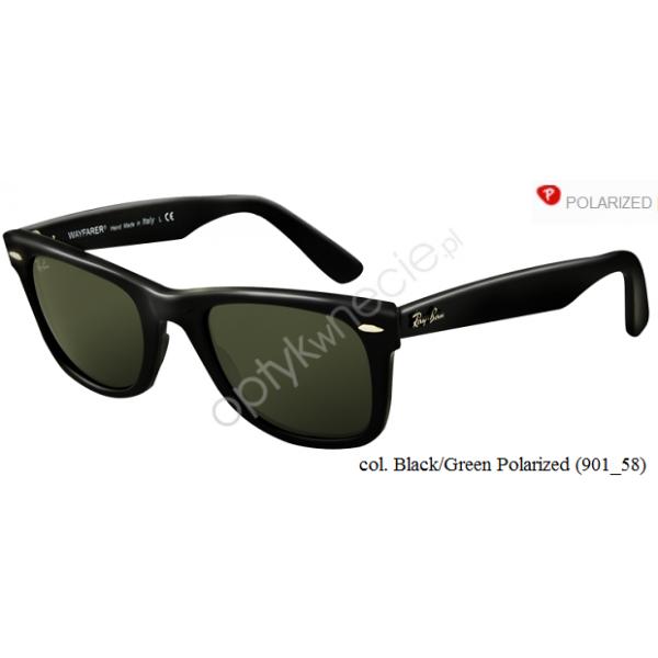 Ray-Ban Original Wayfarer rb 2140 col. 901/58 rozm. 54/18- okulary przeciwsłoneczne z POLARYZACJĄ