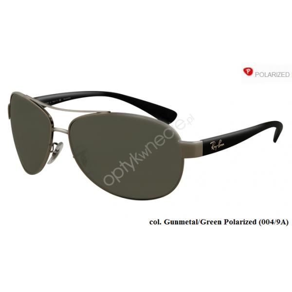 Ray-Ban rb 3386 col. 004/9A rozm. 63/13 - okulary przeciwsłoneczne z POLARYZACJĄ