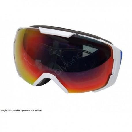 gogle Sportviz na narty z wkładka korekcyjną białe