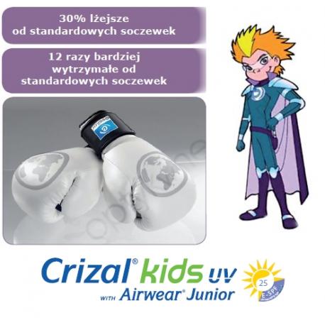 Odporne na uderzenia szkła dla dzieci poliwęglanowe Airwear 1,59 Crizal Kids UV