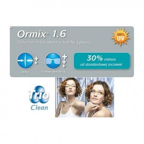 cienkie szkła korekcyjne z antyrefleksem Ormix Trio Clean