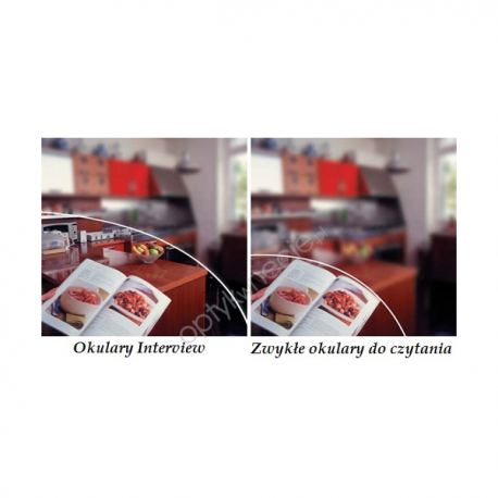 Szkła do czytania i komputera - Interview Crizal Alize UV - magazynowe