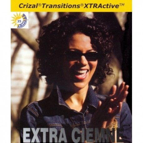 Szkła fotochromowe Transitions XTRActive Ormix 1.6 Crizal Sapphire UV