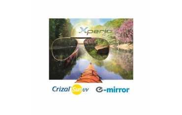 Szkła korekcyjne z polaryzacją Orma 1.5 Xperio Crizal Sun E-Mirror