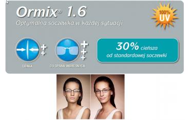 Ormix Crizal Alize UV cienkie szkła z antyrefleksem