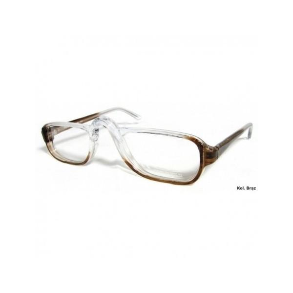 okulary połówki do czytania paul brązowe