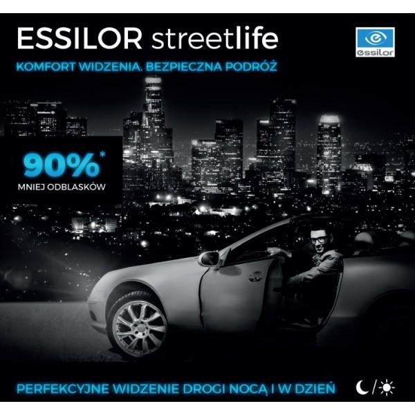 Cienkie i płaskie szkła dla kierowców Essilor Streetlife ormix 1.6