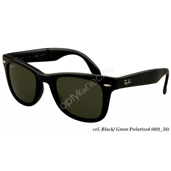 okulary przeciwsłoneczne z polaryzacją ray-ban wayfarer folding rb 4105 601/58