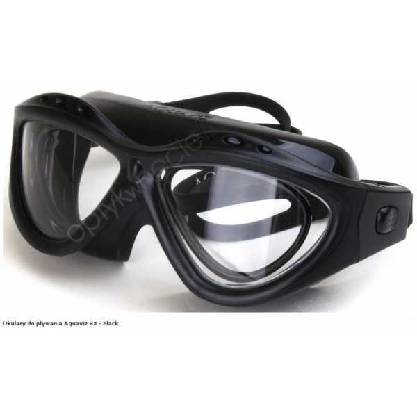 Aquaviz okulary do pływania korekcyjne z korekcją kolor black