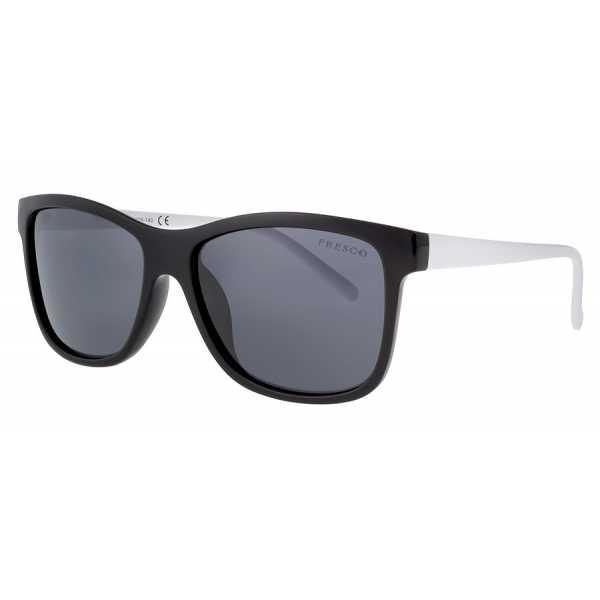 okulary przeciwsłoneczne z polaryzacją Fresco FS 321-1 czarne z białymi zausznikami