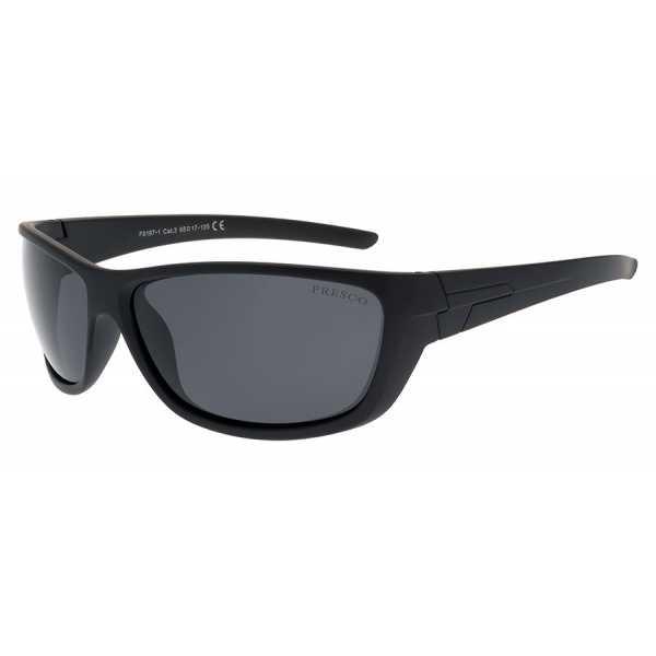 sportowe okulary przeciwsłoneczne z polaryzacją Fresco FS 197-1 czarne matowe