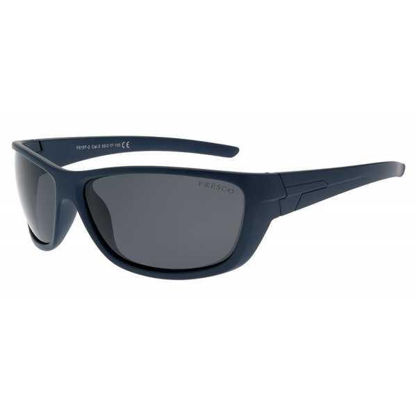 sportowe okulary przeciwsłoneczne z polaryzacją Fresco FS 197-2 granatowe matowe