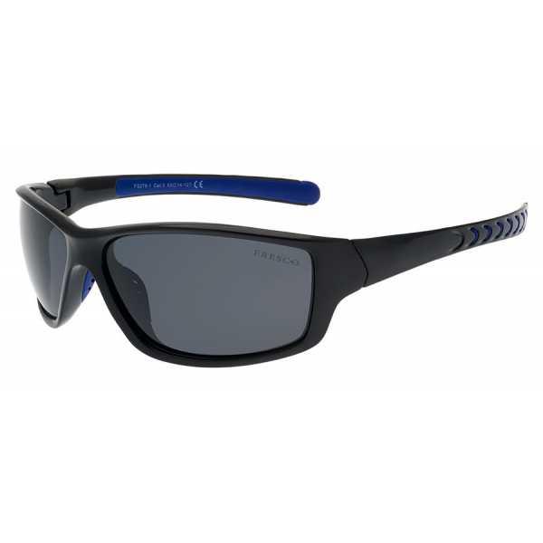 sportowe okulary przeciwsłoneczne z polaryzacją Fresco FS 278-1 czarne połysk
