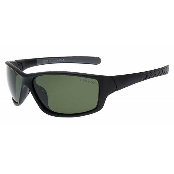 sportowe okulary przeciwsłoneczne z polaryzacją Fresco FS 278-2 czarne matowe