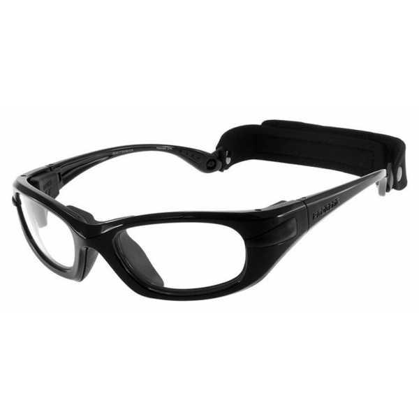 okulary sportowe progear eyeguard z zausznikami czarny metalik