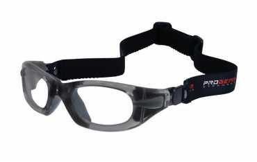 okulary sportowe progear eyeguard z gumką rozmiar s szare transparentne
