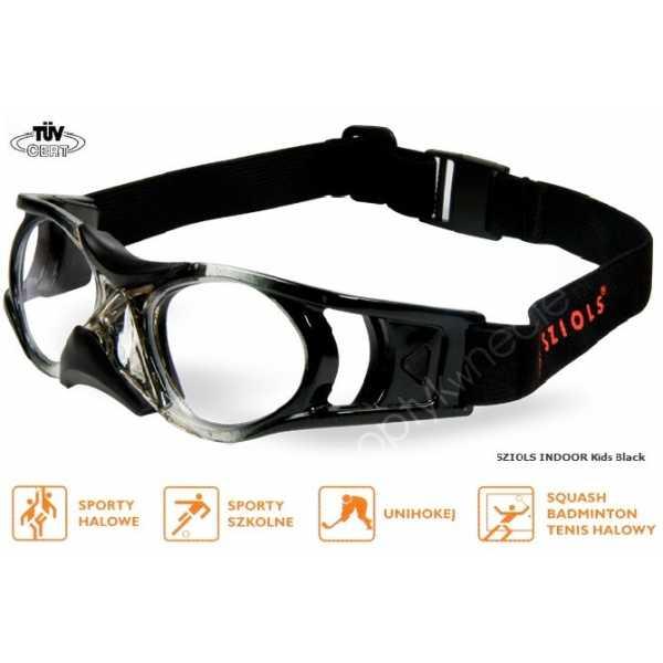 okulary sportowe ochronne Sziols Indoor Kids kolor Black
