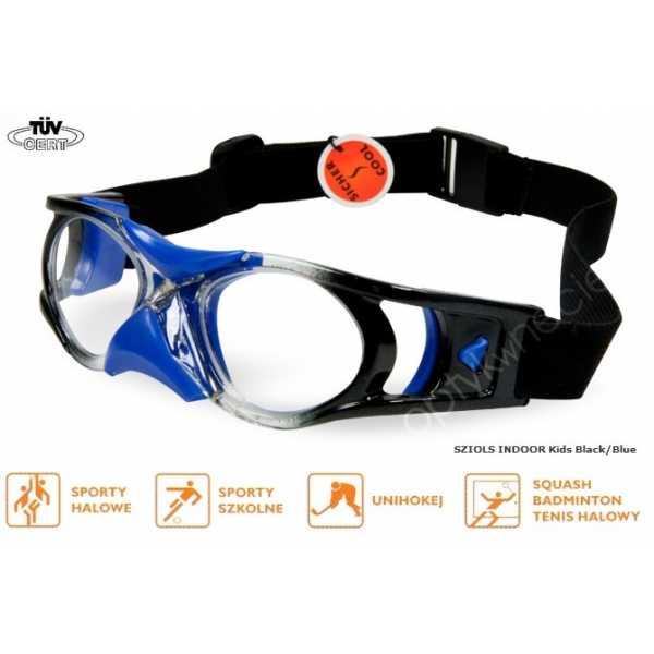 okulary sportowe ochronne Sziols Indoor Kids kolor Blue