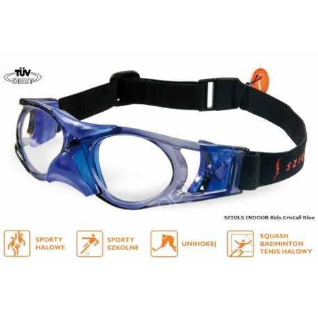 okulary sportowe ochronne Sziols Indoor Kids kolor Cristall Blue