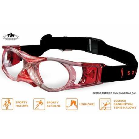 okulary sportowe ochronne Sziols Indoor Kids kolor Cristall Red Run