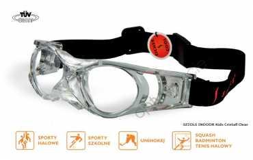 okulary sportowe ochronne Sziols Indoor Kids kolor Cristall Clear