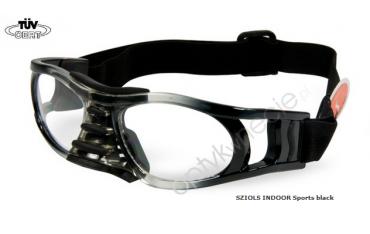 okulary sportowe Sziols Indoor Sports w rozmiarze M dla młodzieży i dorosłych kolor Black