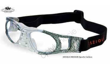 okulary sportowe Sziols Indoor Sports w rozmiarze M dla młodzieży i dorosłych kolor Carbon Clear