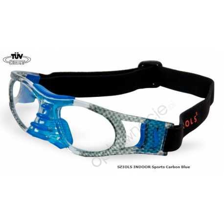 okulary sportowe Sziols Indoor Sports w rozmiarze M dla młodzieży i dorosłych kolor Carbon Blue