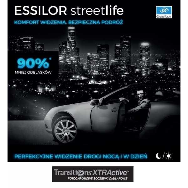 Szkła dla kierowców - Essilor Streetlife Transitions Xtractive