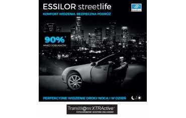 Fotochromy dla kierowców Essilor Streetlife Transitions XTRActive